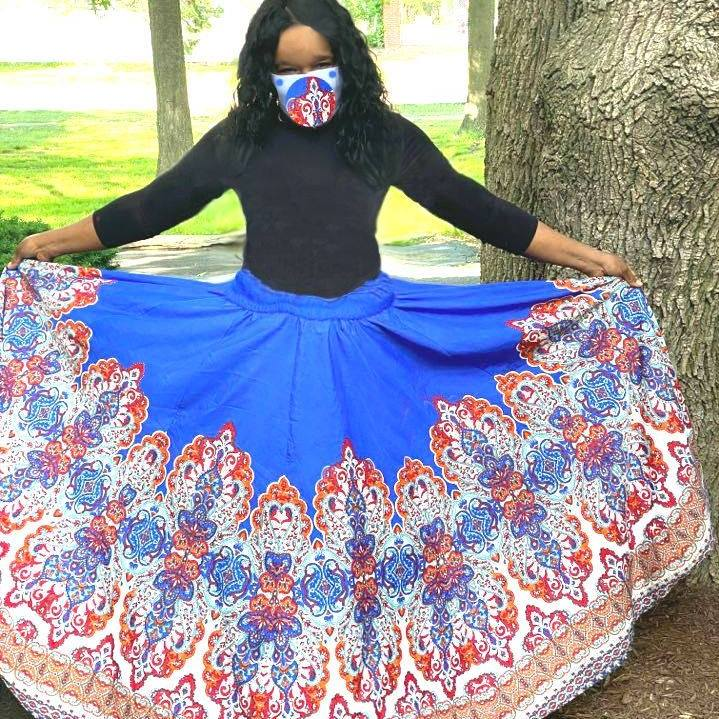 This is an image of my fvorite skirt worn as a off shoulder attire