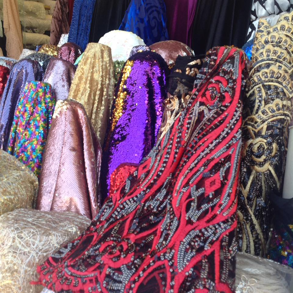 various fabric to be used in art and decorative wearables
