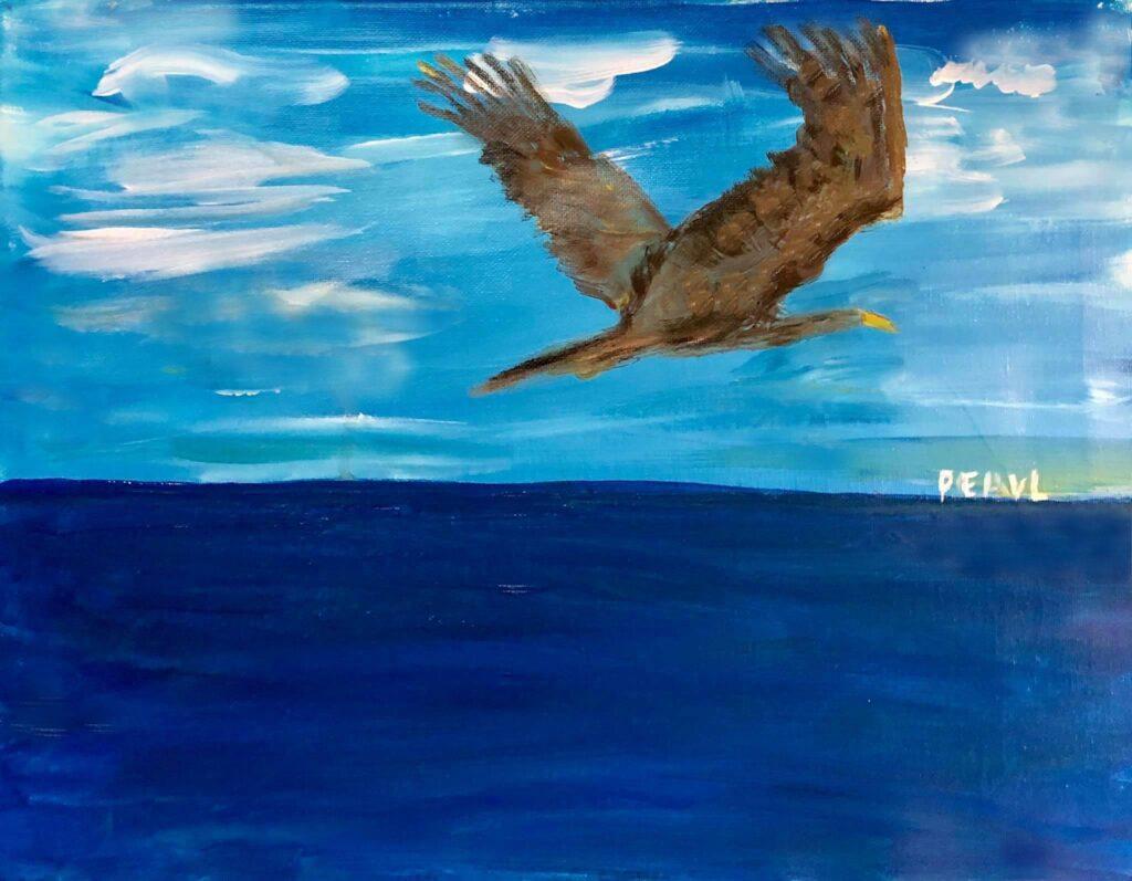 be like an eagle who mount up like on wings